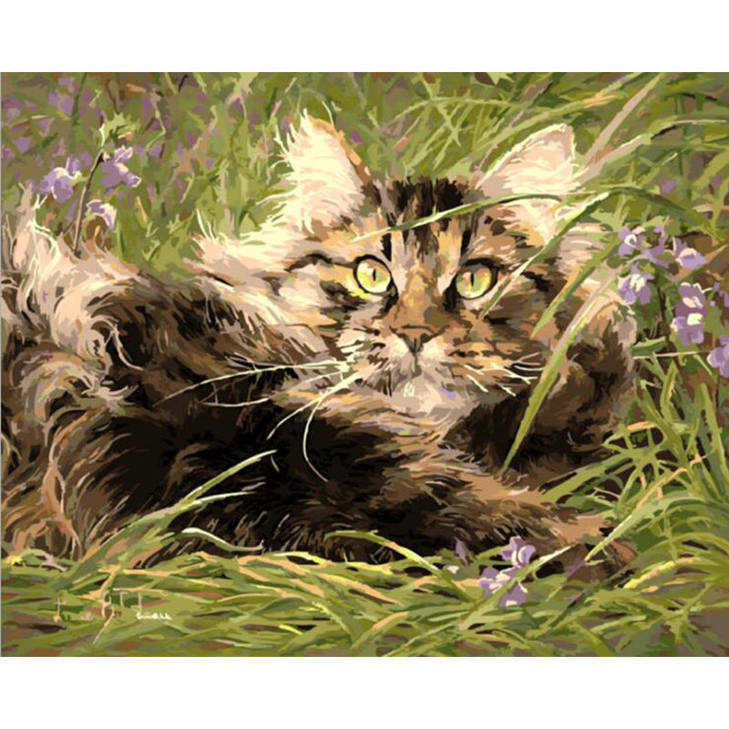 Cat DIY Painting By Number Animals Modern Wall Art Canvas Painting Acrylic