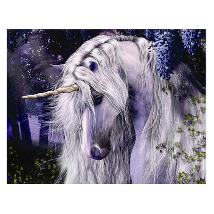 Moonlight Unicorn DIY Acrylic Paint By Numbers Kit 40x50cm