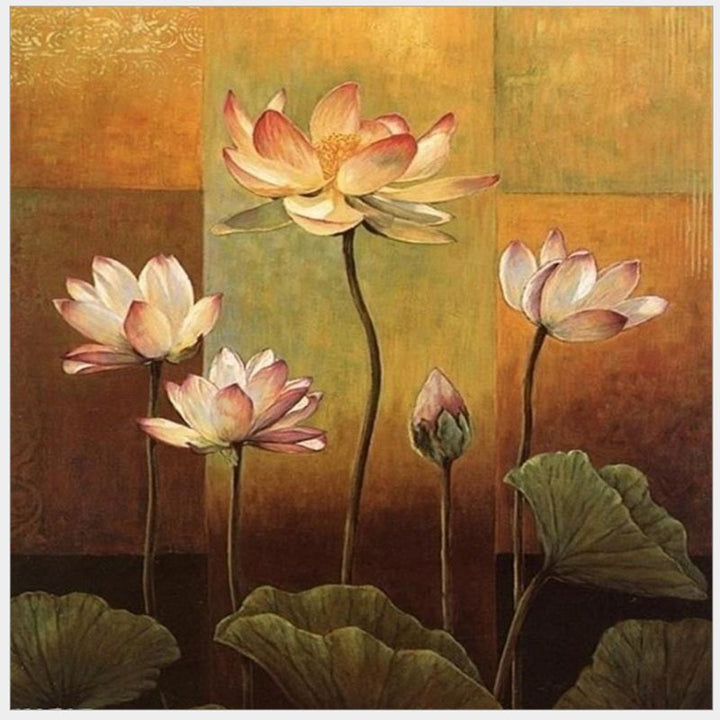 Lotus DIY Acrylic Paint By Numbers Kit 40x50cm