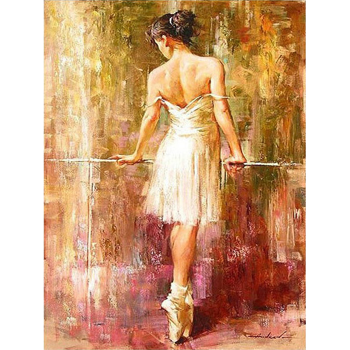 Ballet Dancer Frameless DIY Acrylic Paint By Numbers Kit 40x50cm