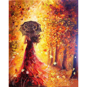 Abstract Autumn Figure Frameless DIY Acrylic Paint By Numbers Kit 40x50cm