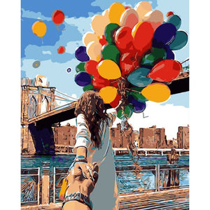 Romantic Balloons Frameless DIY Acrylic Paint By Numbers Kit 40x50cm