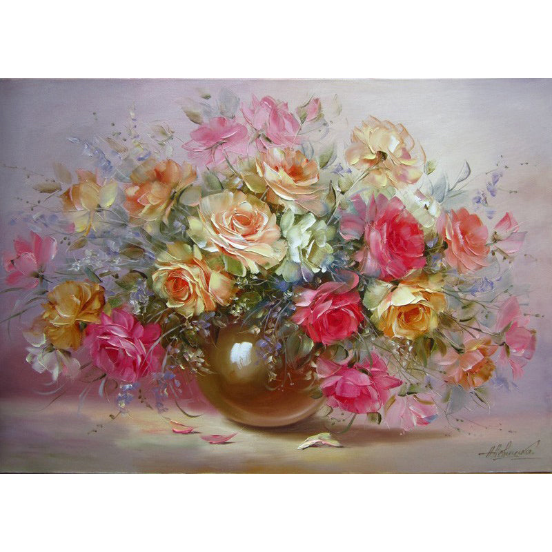 Wildflower Bouquet Frameless Diy Acrylic Paint By Numbers Kit 40x50cm
