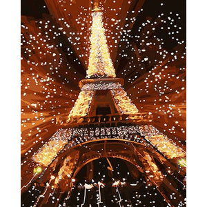 Eiffel Tower Frameless DIY Acrylic Paint By Numbers Kit 40x50cm