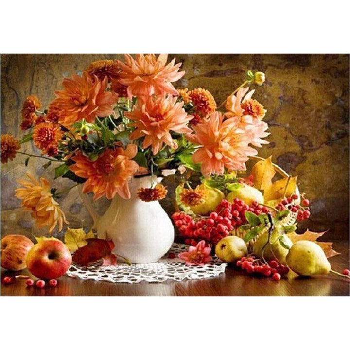 Fruits and Flowers Bouquet Frameless DIY Acrylic Paint By Numbers Kit 40x50cm