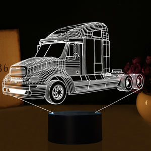 Truck 3D Optical Illusion LED Lamp