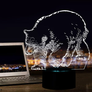 Amazing Polar Bear 3D Optical Illusion LED Lamp