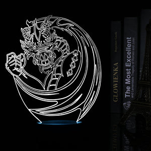 chilldecor.com Amazing Dragon Inspired 3D Optical Illusion LED Lamp