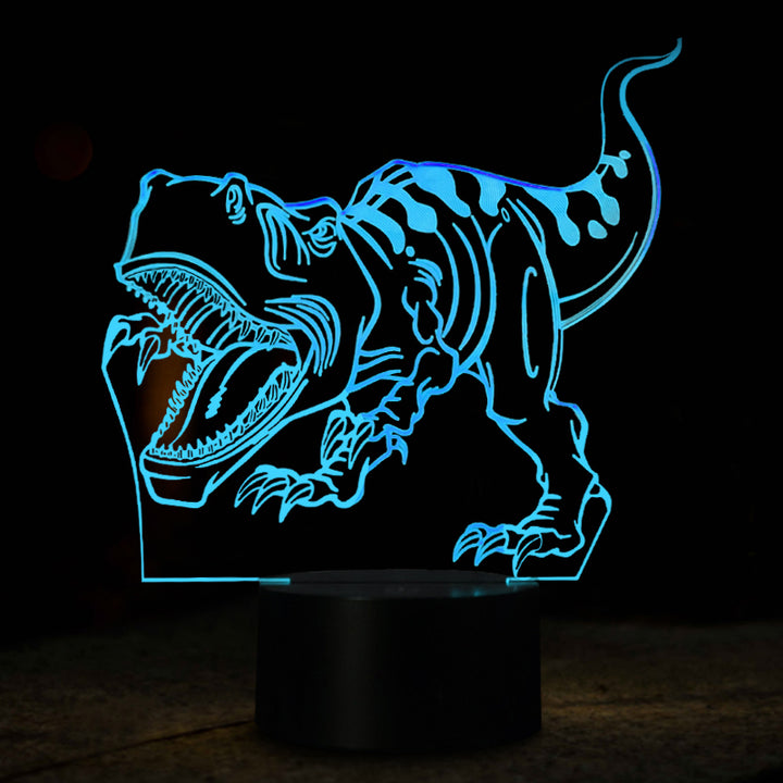 Tyrannosaurus Dinosaur Inspired 3D Optical Illusion LED Lamp