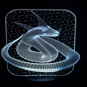 Snake King 3D Optical Illusion LED Lamp