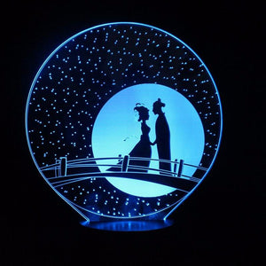 Romantic Qixi Chinese Festival LED Lamp 3D Optical Illusion LED Lamp