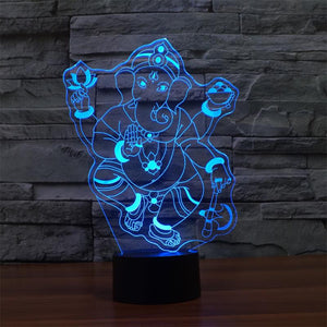 Ganesh 3D Optical Illusion LED Lamp
