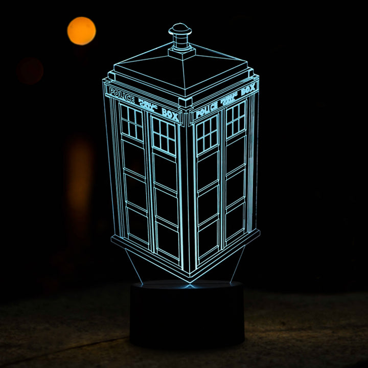 chilldecor.com The Telephone Box Police Box 3D Optical Illusion LED Lamp