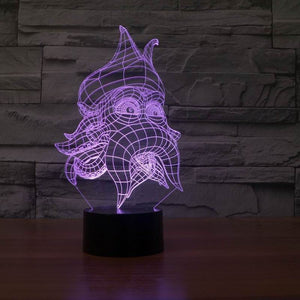 chilldecor.com Fantasy Octopus 3D Optical Illusion LED Lamp