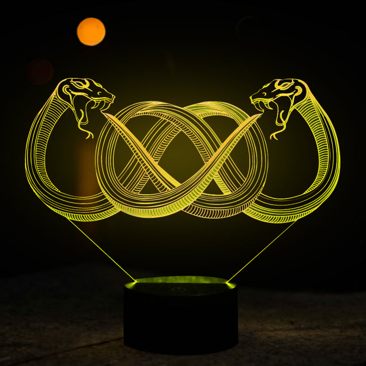 chilldecor.com Fantasy Snakes 3D Optical Illusion LED Lamp