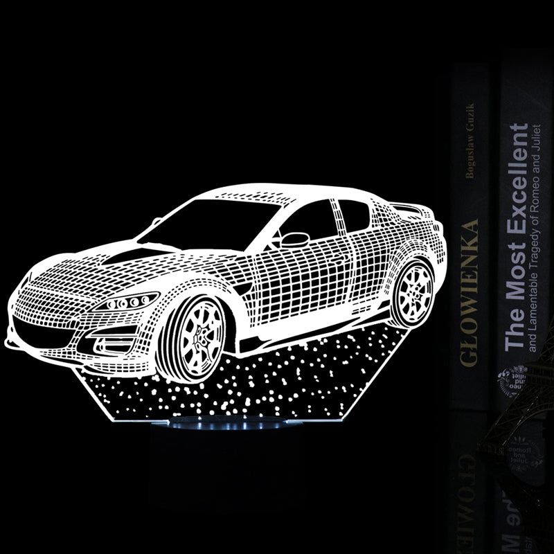 chilldecor.com Car Shaped 3D Optical Illusion LED Lamp