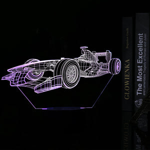 Cool Racing Car 3D Optical Illusion LED Lamp
