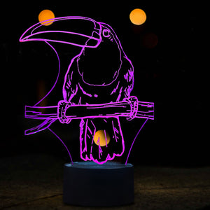Toucan 3D Optical Illusion LED Lamp