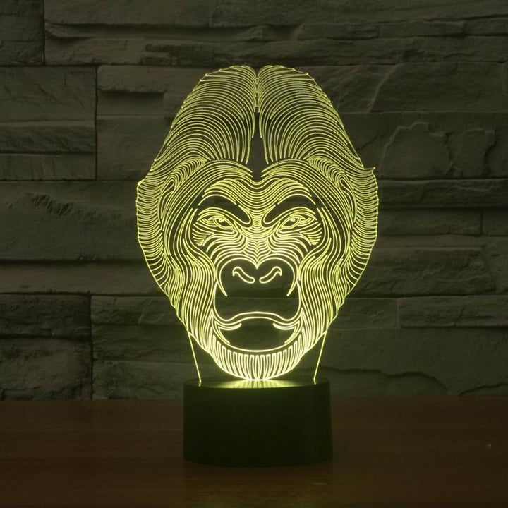chilldecor.com Ape 3D Optical Illusion LED Lamp