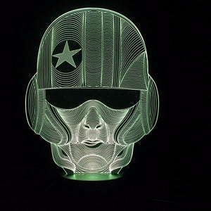 chilldecor.com Warrior Head 3D Optical Illusion LED Lamp