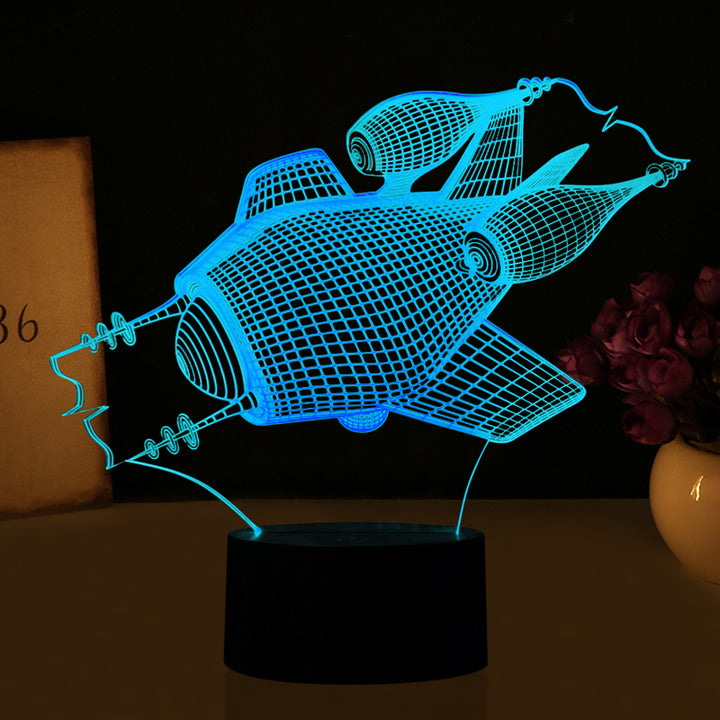 Space Gun 3D Optical Illusion LED Lamp