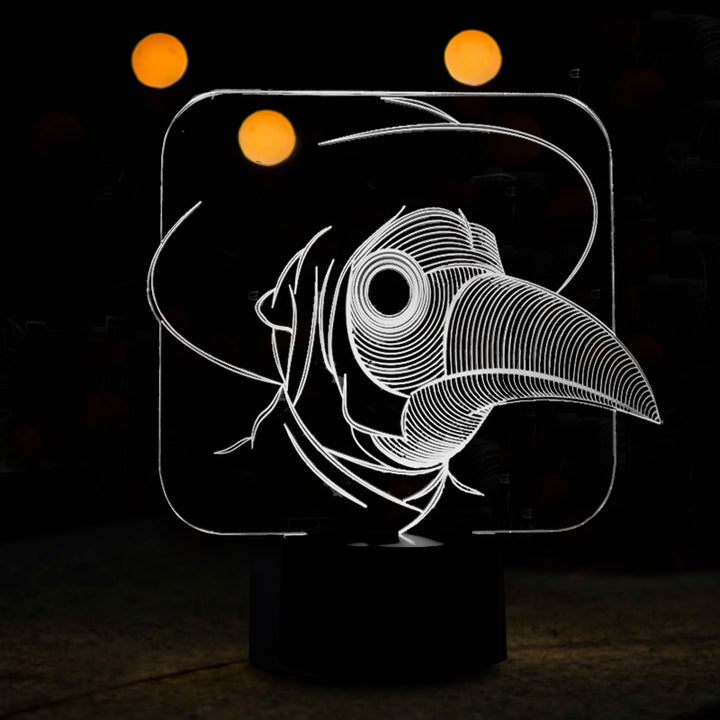 chilldecor.com Bird Face 3D Optical Illusion LED Lamp