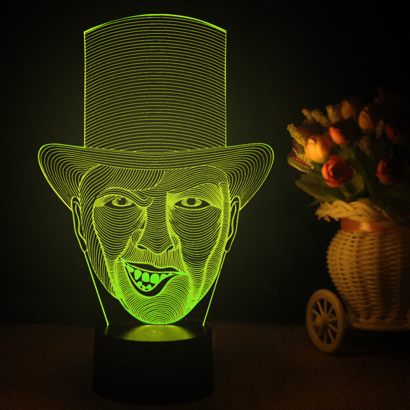 Joker Smile Face 3D Optical Illusion LED Lamp