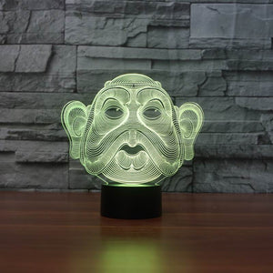 chilldecor.com Big Head 3D Optical Illusion LED Lamp