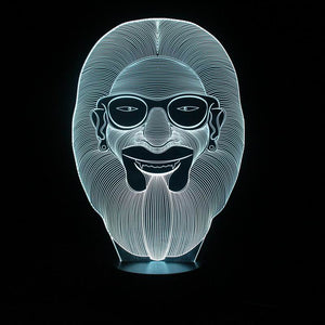 chilldecor.com Ape Wear Glass 3D Optical Illusion LED Lamp