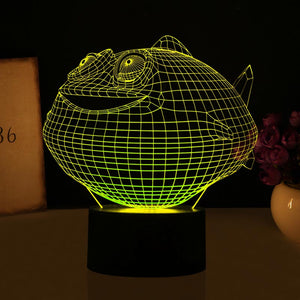 chilldecor.com Cartoon Fish Shaped 3D Optical Illusion LED Lamp