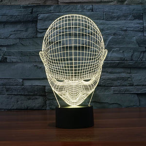 chilldecor.com Human Head 3D Optical Illusion LED Lamp