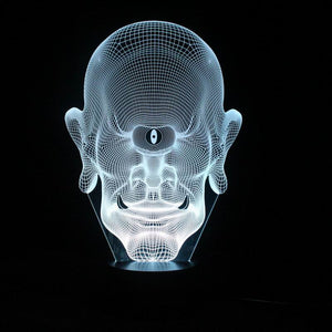 chilldecor.com Alien 3D Optical Illusion LED Lamp