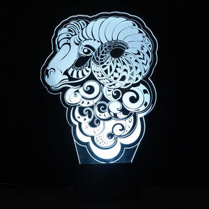 Sheep Fantacy 3D Optical Illusion LED Lamp