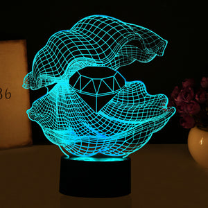 Diamond Pearl 3D Optical Illusion LED Lamp