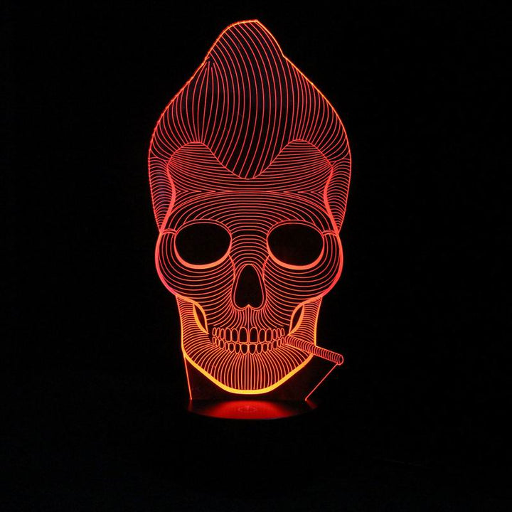 Modern Skull 3D Optical Illusion LED Lamp
