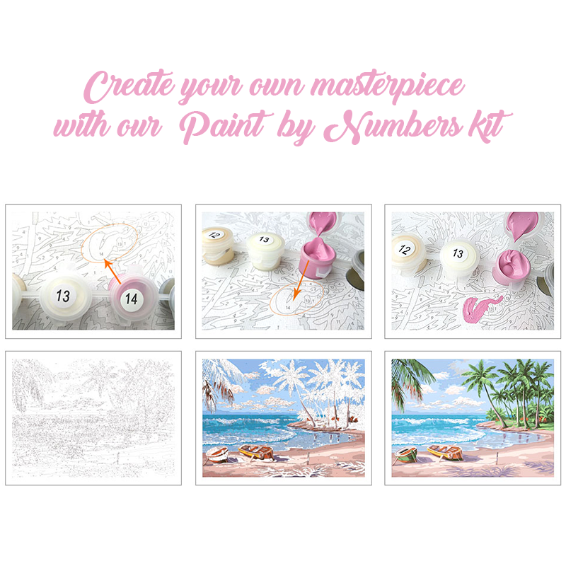 Romantic Street Frameless DIY Acrylic Paint By Numbers Kit 40x50cm