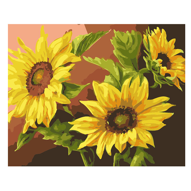 Sunflower DIY Painting By Number Handpainted Oil Painting