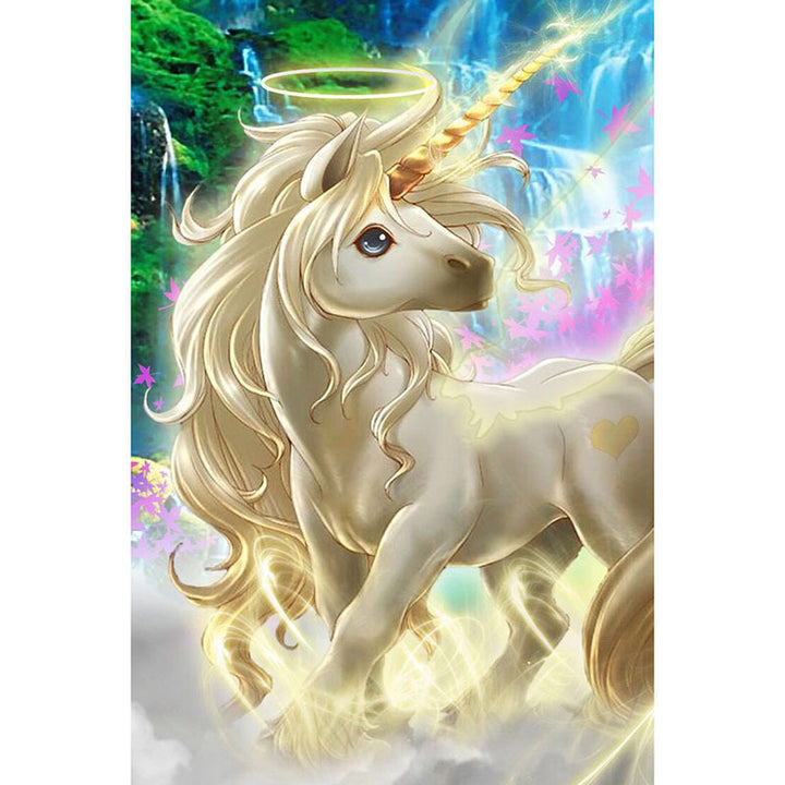 Golden Unicorn DIY Acrylic Paint By Numbers Kit 40x50cm