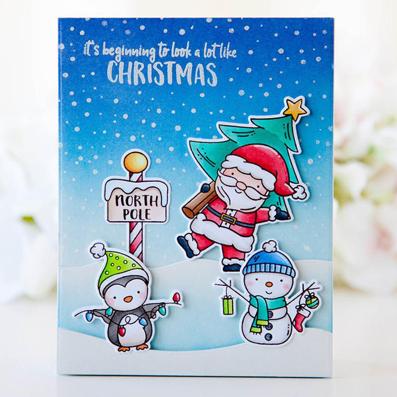Santa's Wonderland Transparent Clear Silicone Stamp Set for DIY Scrapbooking/ Photo Album/ Card