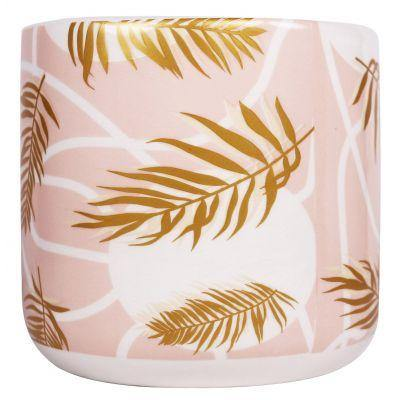 Palm Planter - Pink and Gold - 14cm - #flowerandtwignursery#