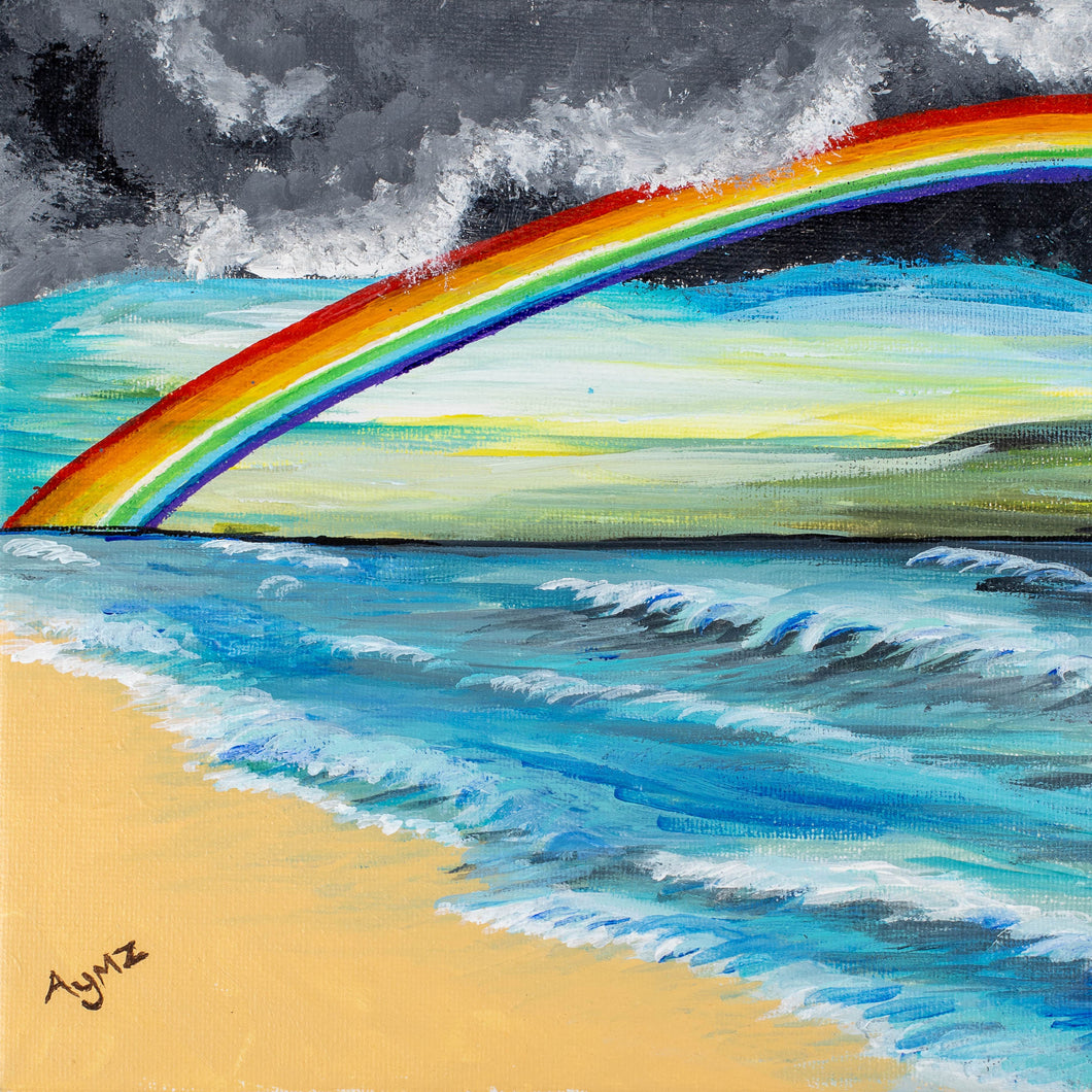 """Rainbow after the Storm"" Framed print"