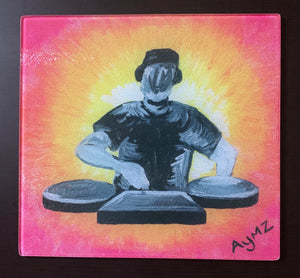 """Missing the Rave"" Glass chopping board"