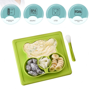 Bear Baby Suction Mat with Spoon