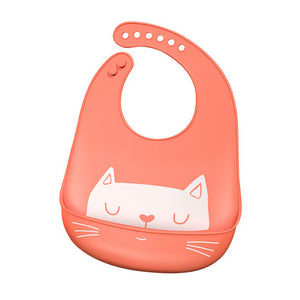 Hungry Kitty Soft Baby Bib