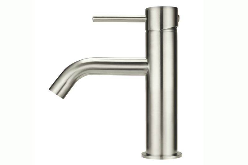 Brushed Nickel Piccola Basin Mixer Tap
