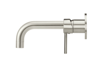 Brushed Nickel Round Curved Spout & Round Mixer Bundle