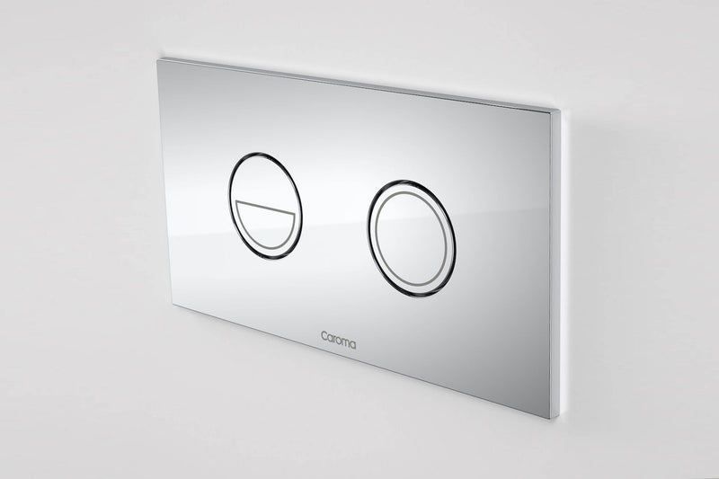 CAROMA INVISI SERIES II ROUND DUAL FLUSH PLATE BUTTON CHROME
