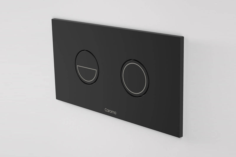 Caroma Invisi Series Ii Round Dual Flush Plate Button Matte Black