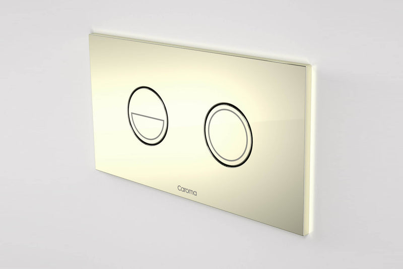 Caroma Invisi Series Ii Round Dual Flush Plate Button Gold