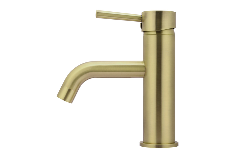 Tiger Bronze Curved Basin Mixer Tap